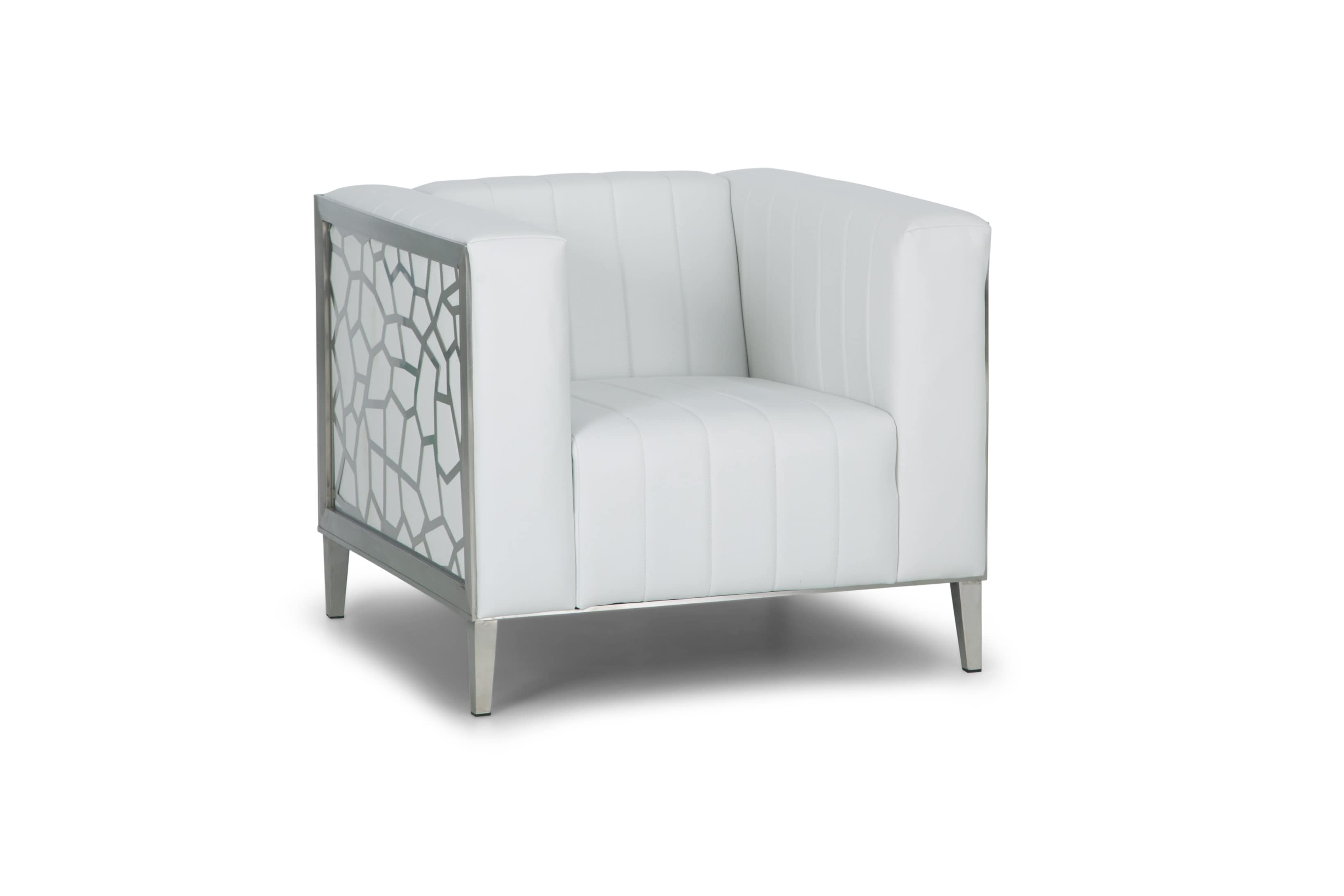 luxe lounge chair white standard
