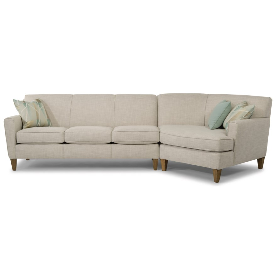 digby 2 piece sectional with raf angled chaise