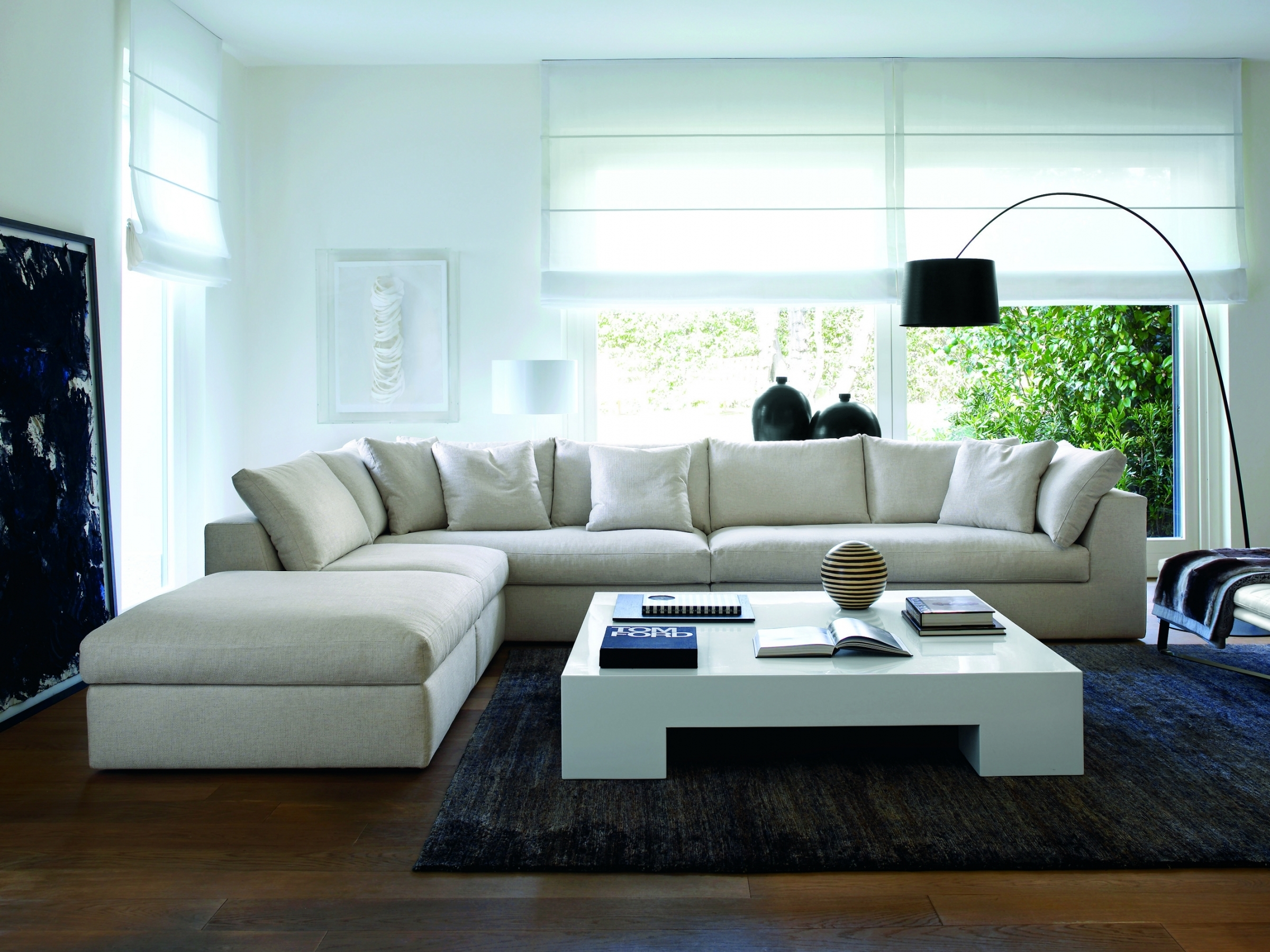 small white leather sectional ideas